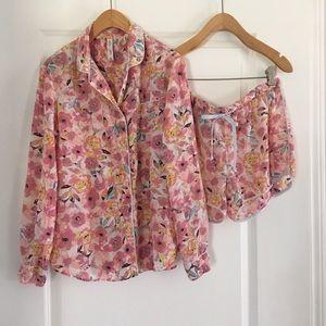 GILLIGAN & O'MALLEY ▪️ Pink Floral Pajama Set